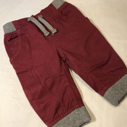 0-3 Month Burgundy Trousers
